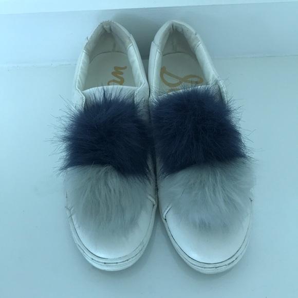 Sam Edelman Schuhes   Leya Blau Faux Fur  Pom Pom Sneaker   Fur Poshmark caa3c5